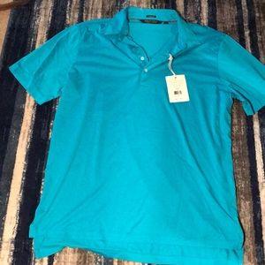 New men's blue polo shirt